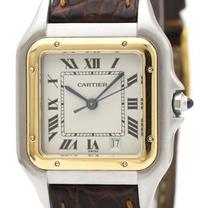 カルティエ(Cartier) パンテール・デ・カルティエ クォーツ ステンレススチール(SS),K18イエローゴールド(K18YG) レディース ドレスウォッチ