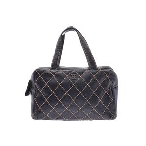 シャネル(Chanel) ワイルドステッチ レザー バッグ ブラック
