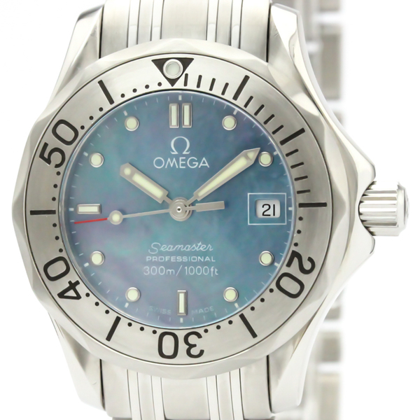 Omega Seamaster Quartz Stainless Steel Women's Sports Watch 2085.72