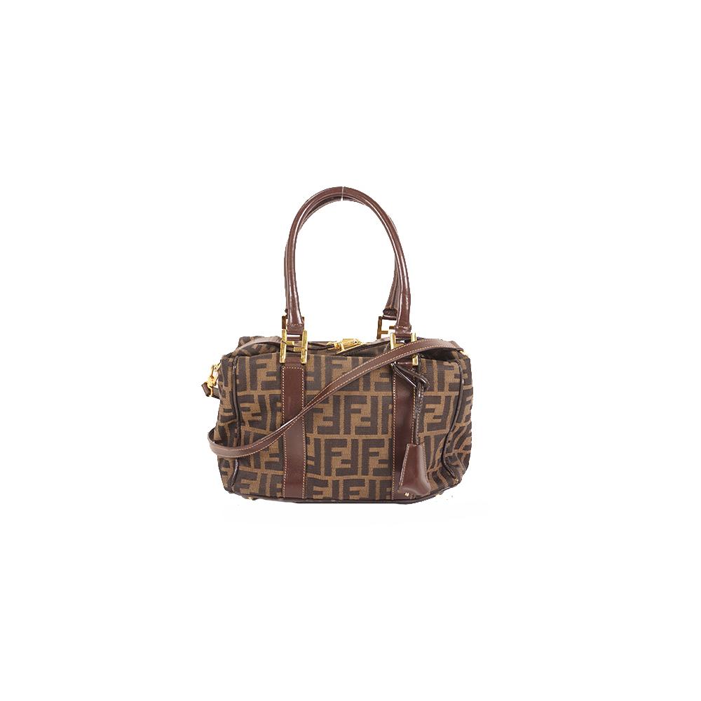Auth Fendi Zucca shoulder Bag handbag