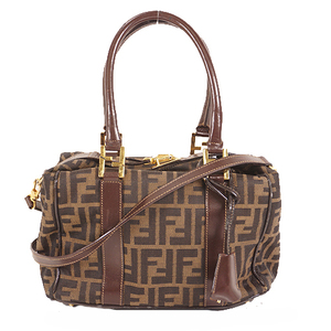 Auth Fendi Zucca shoulder Bag handbag