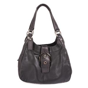 Auth Coach Soho F17219  Women's Leather Shoulder Bag Black
