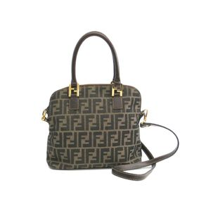 Fendi Zucca Women's Handbag Brown,Beige