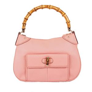 Auth Gucci Bamboo Handbag 137383