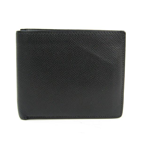 Hermes MC2 Copernic Men's Epsom Leather Bill Wallet (bi-fold) Black