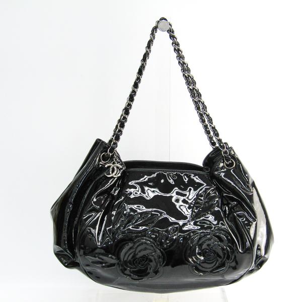 Chanel Camellia Women's Leather Shoulder Bag Black