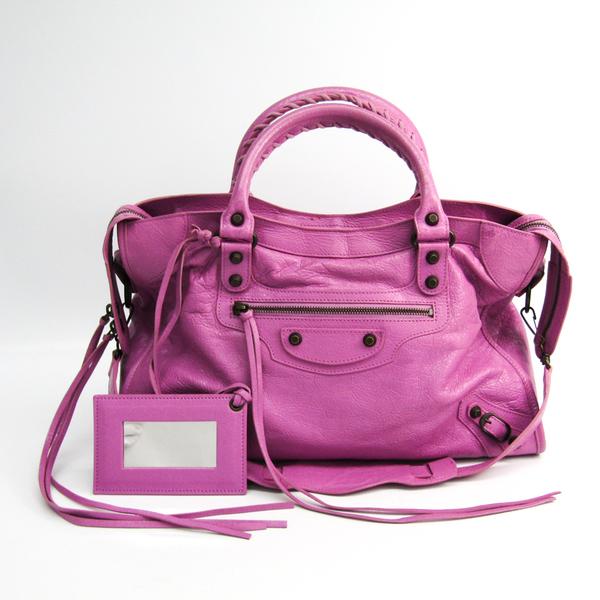 Balenciaga Classic City 115748 Women's Leather Handbag Pink