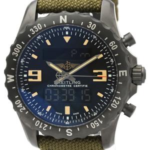 ブライトリング(Breitling) クロノスペース クォーツ ステンレススチール(SS) メンズ スポーツウォッチ M78366