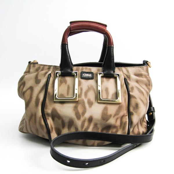 Chloé Ethel Women's Leather Handbag,Shoulder Bag Beige,Black,Light Brown