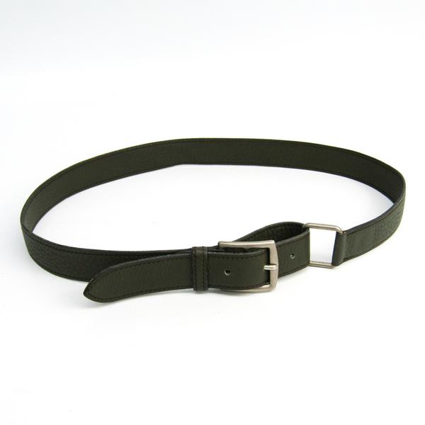 Hermes Women's Leather Belt Dark Green 78