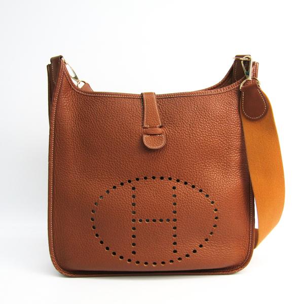 Hermes Evelyne I GM Togo Leather Shoulder Bag Brown