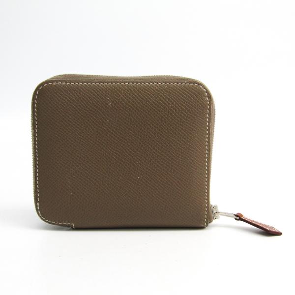 Hermes Azap Silk In Compact Women's Epsom Leather Wallet (bi-fold) Etoupe Gray