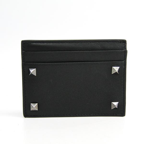 Valentino Garavani Lock Studs RW9P0523VH3 Leather Card Case Black