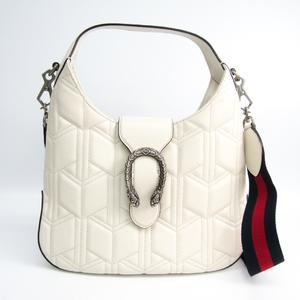 Gucci Dionysus 444072 Women's Leather Handbag White