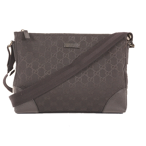 Gucci 114273 Women,Unisex,Men GG Canvas Shoulder Bag Black