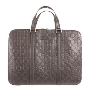 Gucci Guccissima 495451 Men's Briefcase Black