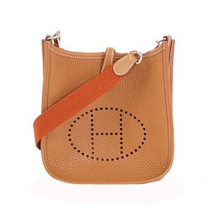 Auth Hermes Evelyne TPM Shoulder Bag Togo Alezan