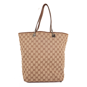 Gucci GG Canvas Tote Bag 31243 Women's GG Canvas Handbag,Shoulder Bag,Tote Bag Beige