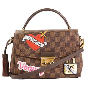 Auth Louis Vuitton 2WAY Bag Damier Croisette N40055