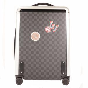 Auth Louis Vuitton Damier Graphite Suitcase Black Horizon55 N23212