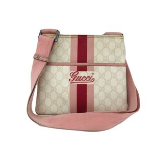 Gucci GG Plus 189817 Women's Shoulder Bag Ivory,Pink