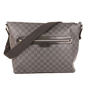 Auth Louis Vuitton Damier Graphite Mick N40004 Men's Messenger Bag,Shoulder Bag
