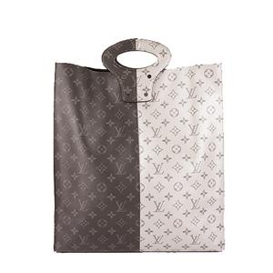 Auth Louis Vuitton Monogram Eclipse Tote M43816 Men's Handbag,Tote Bag Monogram