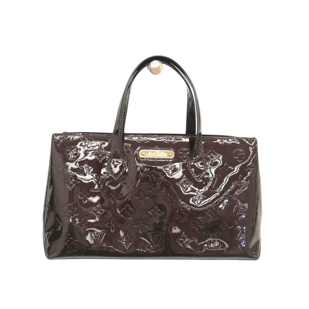 Louis Vuitton Monogram Vernis Wilshire PM M93641 Women's Handbag Amarante