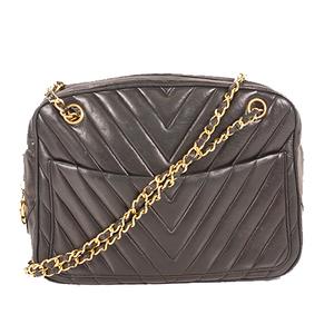 Auth Chanel Chevron (V Stitch) Chain Shoulder Bag