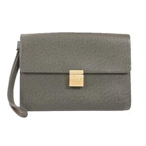 Auth Louis Vuitton Clutch Bag Taiga Selenga M30784