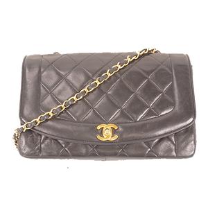 Auth Chanel Matelasse Diana Flap Chain Shoulder Bag