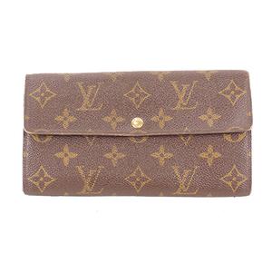Louis Vuitton Monogram M61726 Women's Leather,Monogram Long Wallet (bi-fold) Brown,Monogram