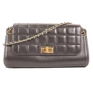 Auth Chanel 2.55 shoulder Bag Black