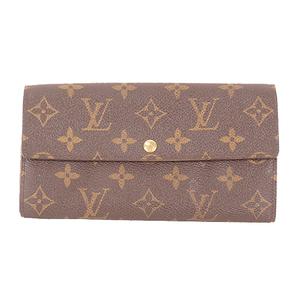 Auth Louis Vuitton Monogram M61734 Women's Leather,Monogram Long Wallet