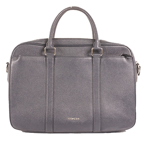 Auth CoachLeather Briefcase Navy