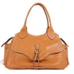 Auth Cole Haan Shoulder Bag Women's Leather Shoulder Bag Brown