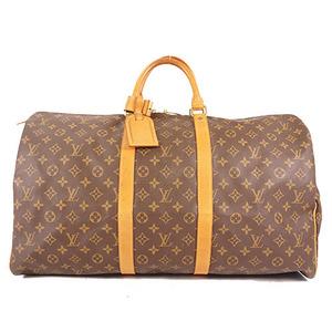 Auth Louis Vuitton Monogram M41424 Unisex,Men,Women Boston Bag Brown