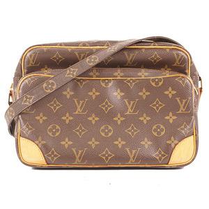 Auth Louis Vuitton Monogram Nile M45244 Women's Shoulder Bag Brown