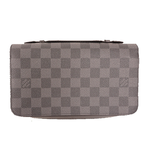 Auth Louis Vuitton Damier Graphite Zippy XL  N41503 Men's Damier Graphite
