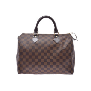 Louis Vuitton Damier Speedy 30 Brown N41531 Men Women Genuine Leather Handbag A Rank Good Condition LOUIS VUITTON Used Ginkura