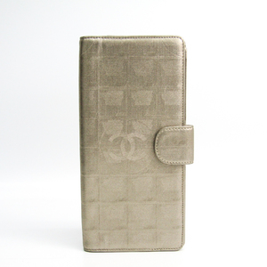 シャネル(Chanel) ニュートラベルライン トラベルケース レディース コーティングキャンバス 札入れ(二つ折り) ゴールド