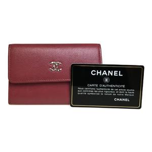 シャネル(Chanel) A81645 キャビアスキン カードケース ピンク