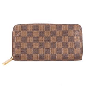 ルイヴィトン 二つ折り長財布 ダミエ ジッピーウォレット N60015