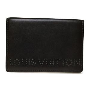 Auth Louis Vuitton M95528 Organizer De Poche Card Case Leather Brown
