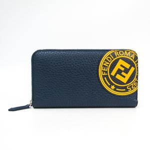 フェンディ(Fendi) 7M0210 A4NQ F149W レディース  カーフスキン 長財布(二つ折り) ネイビー,イエロー