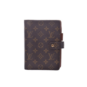 Louis Vuitton Monogram Compact Size Planner Cover Monogram Agenda MM R20105