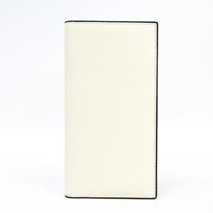 ヴァレクストラ(Valextra) V8L21-044-000W ユニセックス  型押しカーフ 長札入れ(二つ折り) ホワイト