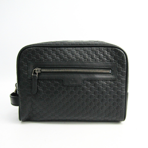 グッチ(Gucci) マイクログッチッシマ 419775 BMJ1R 1000 ユニセックス レザー クラッチバッグ ブラック