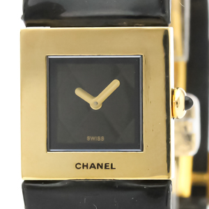 Chanel Matelasse Quartz Yellow Gold (18K) Women's Dress Watch H0111