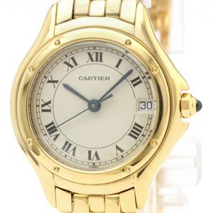 Cartier Panthere De Cartier Quartz Yellow Gold (18K) Women's Dress Watch 887906